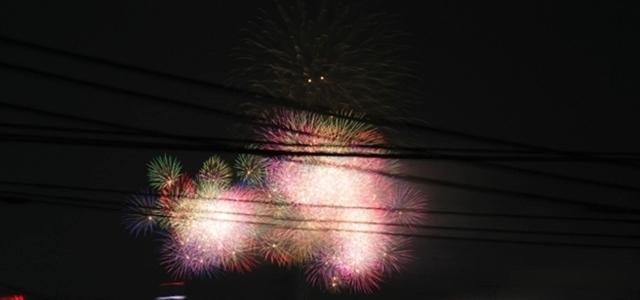 今年、最後の花火