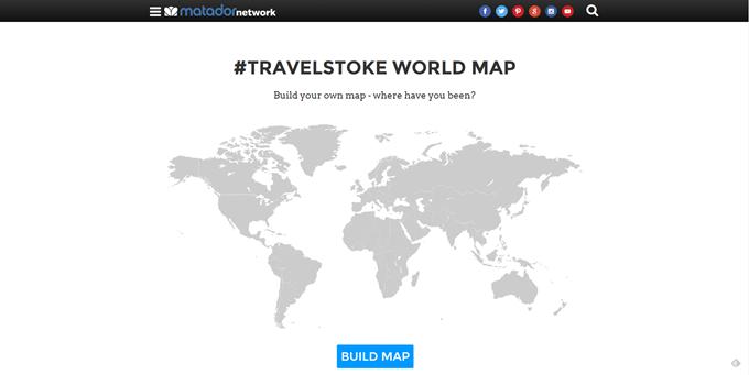 #TRAVELSTOKE WORLD MAP で行ったことのある国を塗ってみよう